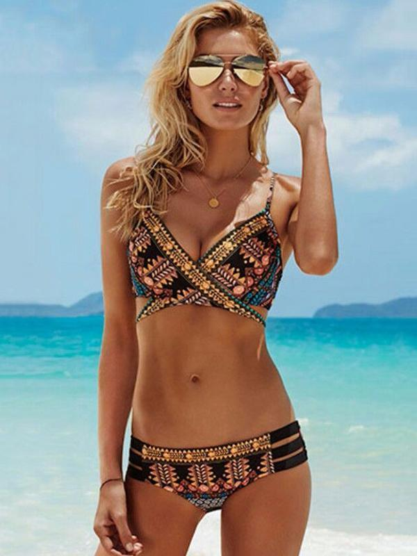 Bohemia Printed Two-Pieces Bikini Swimwear