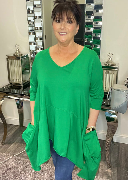 Georgia star over sized T-Shirt with pockets in Pink