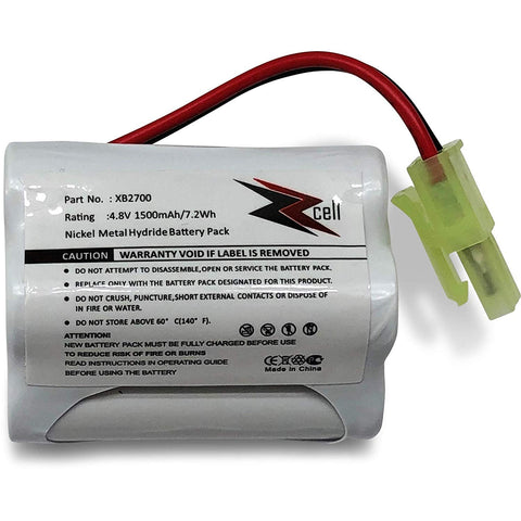 ZZcell Battery for Euro Pro Shark Vacuum Carpet and Carpet Sweeper XB2700, V2700Z, VAC-XB2700, 1500mAh