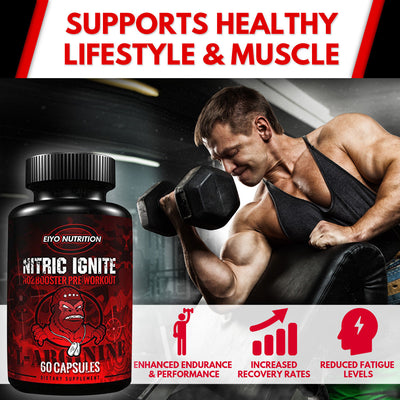 Nitric Ignite - Pre-Workout L-Arginine NO2 Booster - Eiyo Nutrition