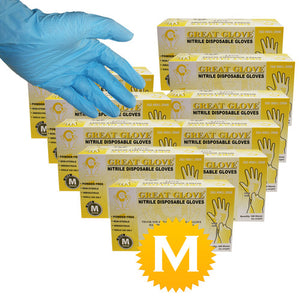 Nitrile Powder Free Gloves - Size Medium - 1000 Gloves