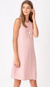 ELLA SPLIT HEM DRESS PINK
