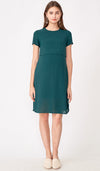 VANESSA LAYERED NURSING DRESS EMERALD