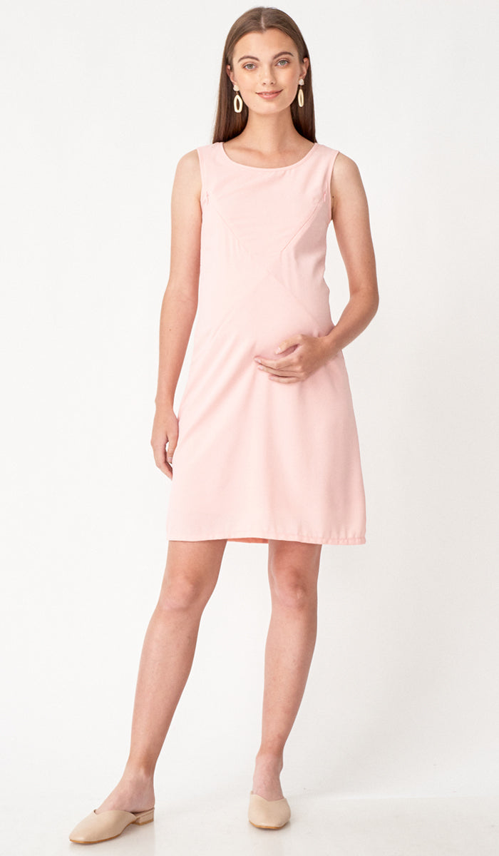 SALE - CARLA ASYMMETRICAL ZIP DRESS PINK