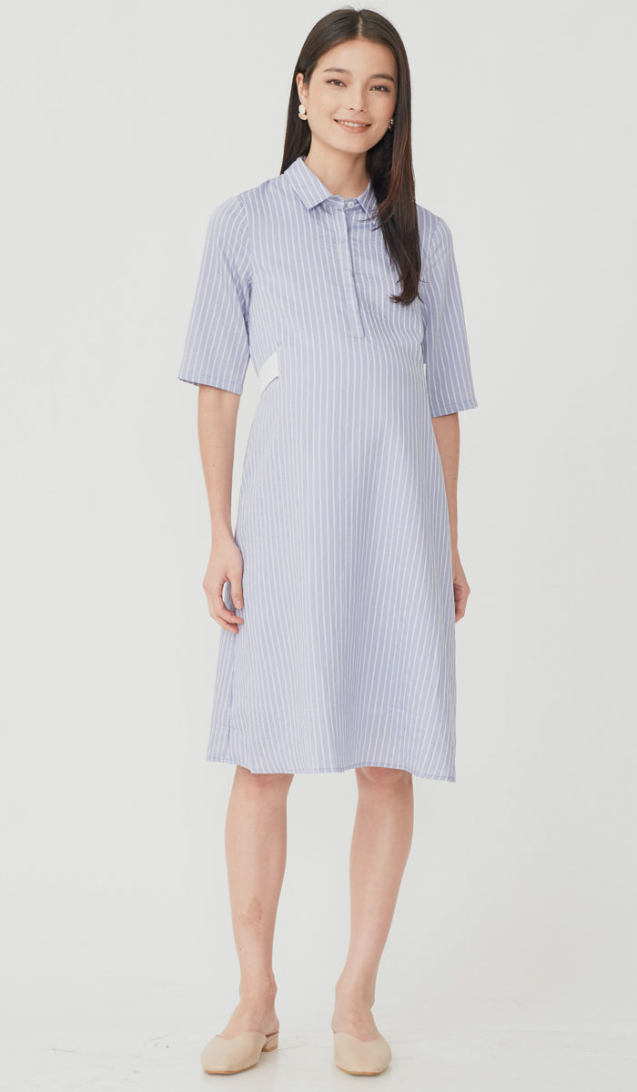 SUZY STRIPED SHIRT DRESS