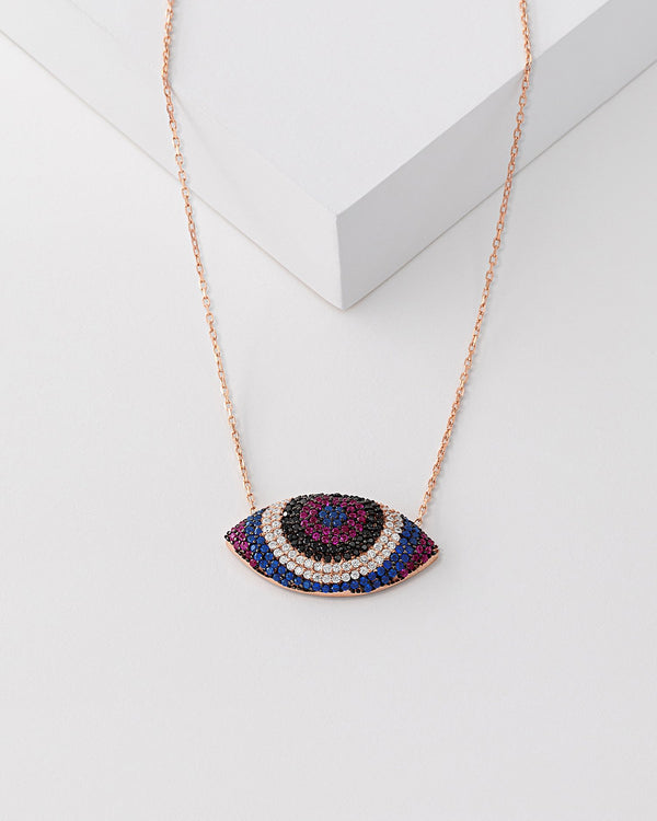 Sia Rainbow Evil Eye Necklace