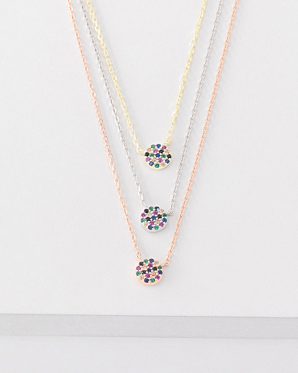 Gia Rainbow Layered Necklace