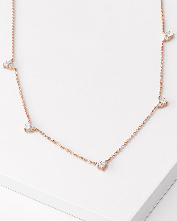 Raya Heart Rose Gold Necklace
