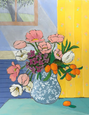 A Room for Flowers 13 floral still life painting by Jennifer Allevato