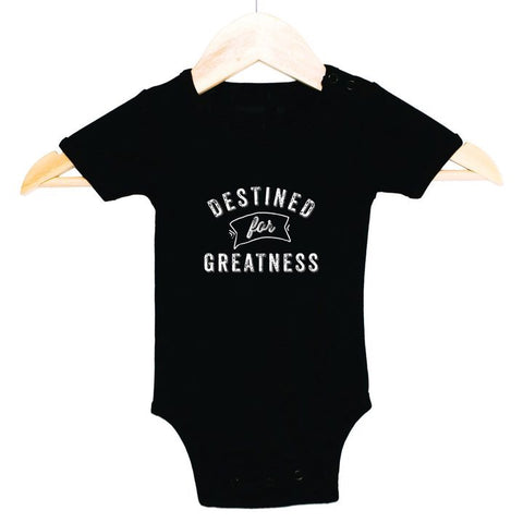 Destined for Greatness Onesie Black