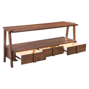 Graham Media Console Table Walnut
