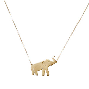 Elephant Diamond Eye Necklace
