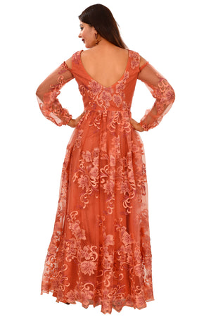 Peach Evening Style Gown