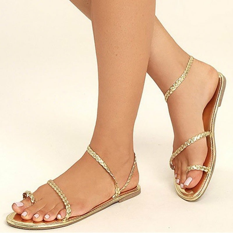 Women PU Sandals Flip Flop Style Plus Sizes