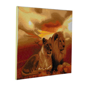 "CAK-A55: ""Lions of Savannah"" Framed Crystal Art Kit, 40 x 50cm"