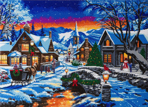 "CAK-A82: ""Tinsel Town"" Framed Crystal Art Kit, 90 x 65cm (Giant Kit) - PRE-ORDER"