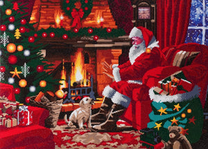 "CAK-A83: ""Santa by the Fire"" Framed Crystal Art Kit, 90 x 65cm (Giant Kit) - PRE-ORDER"