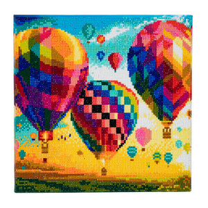 "CAK-A46: ""Hot Air Balloons"" Framed Crystal Art Kit, 30 x 30cm"