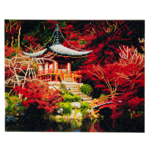 "CAK-A50: ""Japanese Temple"" Framed Crystal Art Kit, 40 x 50cm"
