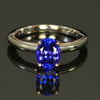 14K White/Rose Gold Oval Tanzanite Ring 1.86 Carats