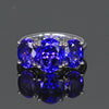 14K White Gold Tanzanite Ring 7.48 Carats Total Weight