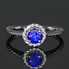 14K White Gold Round Tanzanite Ring .69 Carats