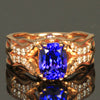14 Kt Rose Gold Tanzanite Ring with Diamonds by Christopher Michael  2.13 Carats