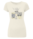 Women's Slim-Fit, Soft 100% Organic Cotton T-Shirt 'May the Fizz be With You'