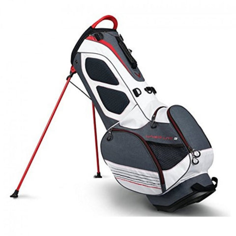Callaway Hyper Lite 3 Golf Stand Bag - Titanium/White/Red