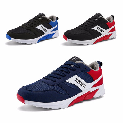 Winter Comfortable Men Sport Running Shoes Cotton Men Male Anti-Slip Rubber Sole Walking Sneakers Shoes HOT