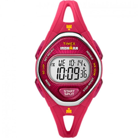 Timex IRONMAN® Sleek 50 Mid-Size Silicone Watch - Pink