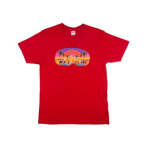 Supreme Red Mirage Tee
