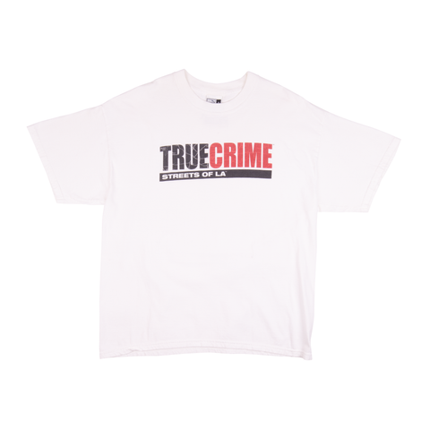 Vintage White True Crime Puma Tee