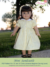 "Sandcastle Dress by Ellie Inspired (Doll 15"" & 18"")"
