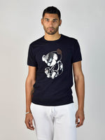 Teddy Foil T-Shirt (Navy/Silver)
