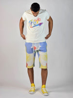 Watercolor Print T-Shirt (Natural)
