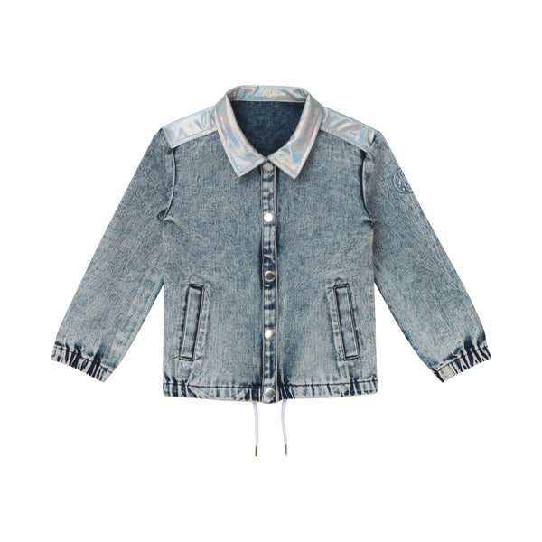 Emmett Shirt Jacket - Stone Washed Denim