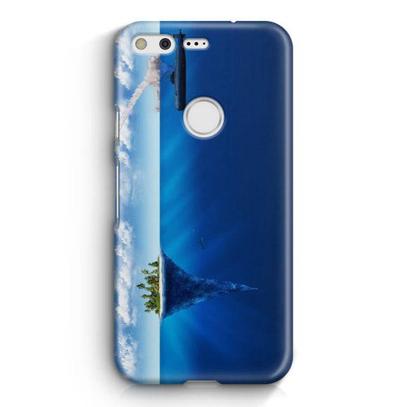 3D Sea Island Abstract Google Pixel Case | Tridicase