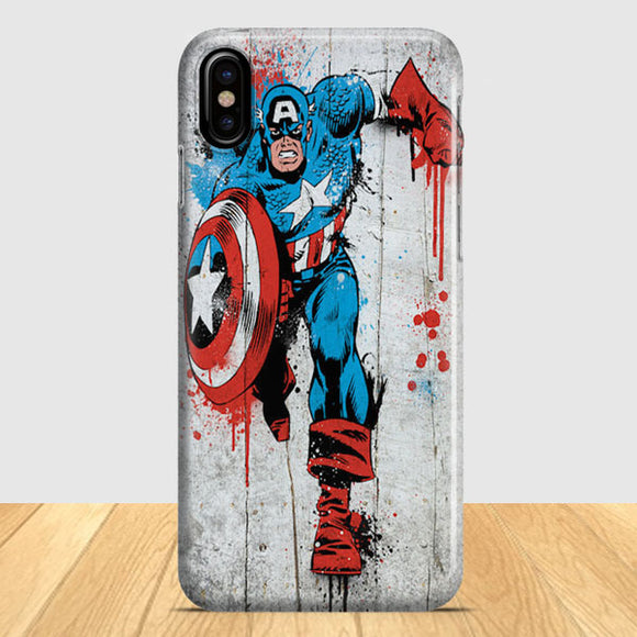 Captain America Spray Paint iPhone X Case | Tridicase