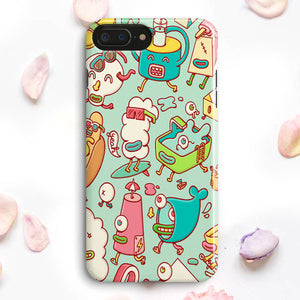 Cute Doodle Wallpaper iPhone 7 Plus Case | Tridicase