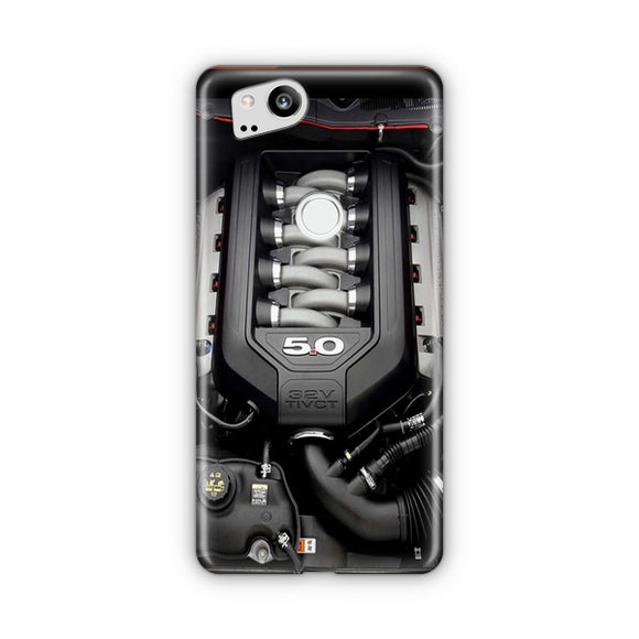 5.0L Coyote Ford Mustang GT Engine Google Pixel Case | Tridicase