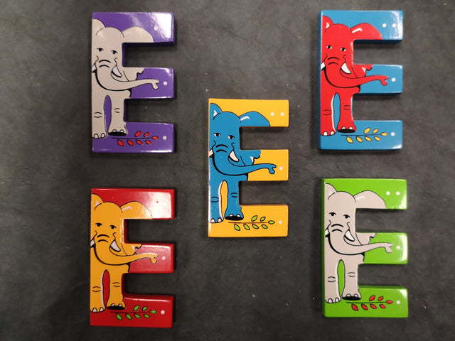 Children's Animal Letters - E