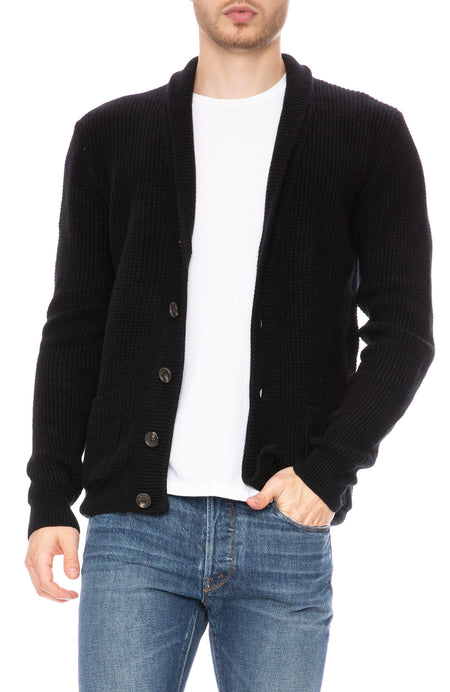 Exclusive Cashmere Waffle Cardigan