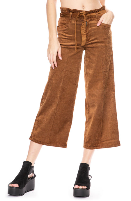 Sutton Cropped Paper Bag Pant