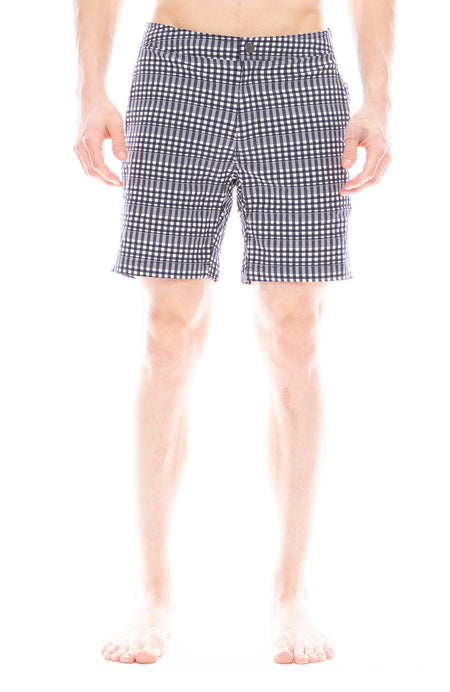 Calder Plaid Swim Short