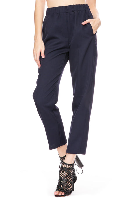 Wool Diagonal Pants