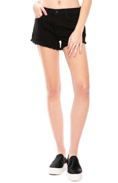 L'Agence Zoe Distressed Perfect-Fit Shorts at Ron Herman