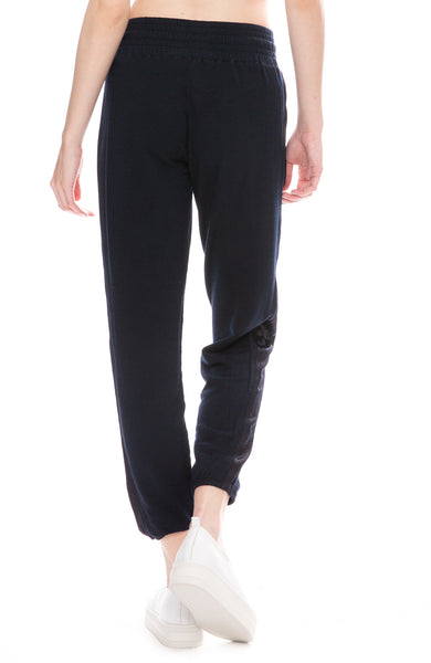Satin Stripe Sweatpants