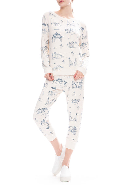All Things Fabulous Los Angeles Print Cozy Sweatpants and Sweater