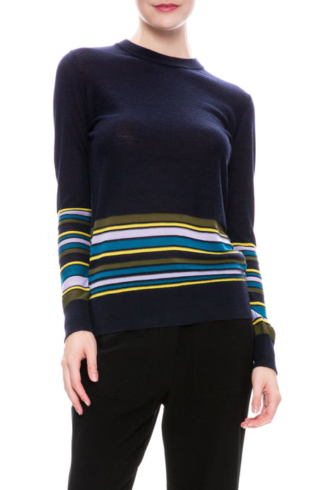 Knit Stripe Pullover Sweater